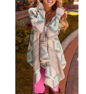 2016 Hot Selling Irregular Printing Knitted Cardigan (80002) pictures & photos