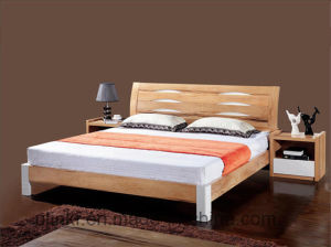 Living Room Furniture Solid Wood Double Bed Wholesale (HX-LS035) pictures & photos