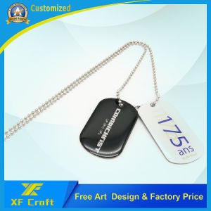 Professional Cusom Silk Screen Cmyk Stain Steel Metal Tags/Dog Tag/ID Tag/Pet Tags with Ball Chain for Souvenir (XF-DT07) pictures & photos