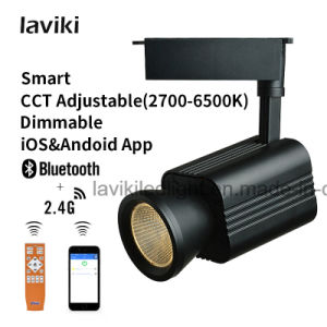 24W Smart COB LED Track Light with CCT Changing Dimming