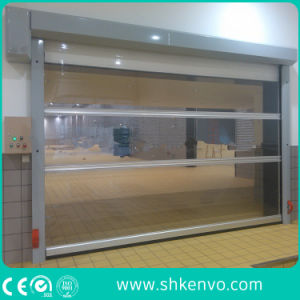 Industrial Automatic High Speed PVC Fabric Roll up Canvas Garage Doors pictures & photos