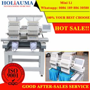 Best Sell and Promotional Two Heads 15 Colors Embroidery Machine pictures & photos