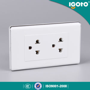 Igoto A60 Range America Style 2gang America Socket Outlet pictures & photos