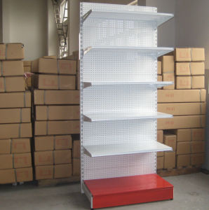 Supermarket Metal Display Punched Rack Wall Display Shelf pictures & photos