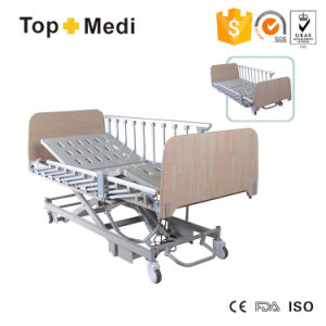 Topmedi Folding Three-Function Electric Power Hospital Bed with FDA Ce pictures & photos