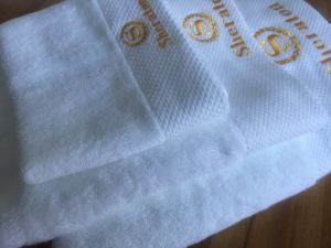Luxury Embroidery Sheraton Hotel Towel Set pictures & photos