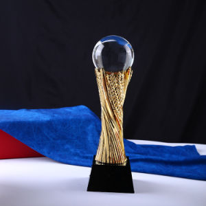 Crystal Glass Trophy with Ball Craft for Sport pictures & photos