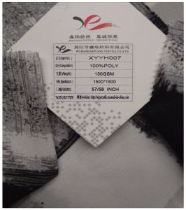 100% Polyester Textile Fabric, Crepe Chiffon, Plaid Printing pictures & photos