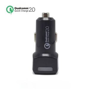 Newest QC2.0 Portable Dual USB Car Charger for Mobile Phone pictures & photos