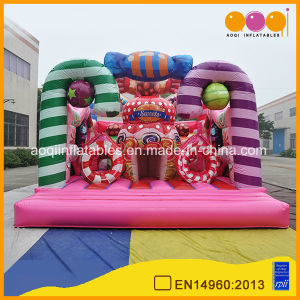 Pink Candy Jumping Inflatable Bouncer for Sale (AQ01769) pictures & photos