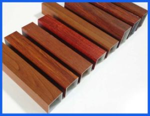 Wood Grain Aluminum Profile Tube/Pipe 6061 6063 6060 pictures & photos