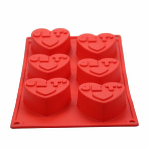 FDA/LFGB Love Cake/Chocolate/Soap Mold Heat Resistant Food Grade Silicone pictures & photos