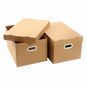 Customzied Household Storage Corrugated Paper Box with Holder pictures & photos