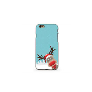iPhone 6 Plus Cute Reindeer Christmas Transparent Plastic Phone Case pictures & photos