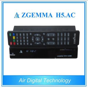 New Product H. 265 TV Decoder Zgemma H5. AC DVB S2 + ATSC pictures & photos