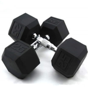 High Quality Rubber Coated Cast Iron Hex Dumbbell pictures & photos