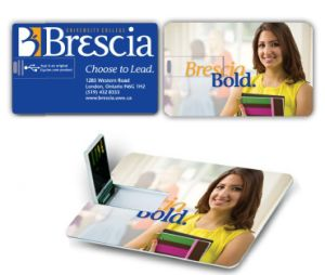 Promotional Credit Card USB Flash Drive 4GB, Custom Fashion Gift Compact Flash Card 8GB pictures & photos