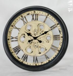 Industrial Style Gear Shape Metal Wall Clock Art Decor pictures & photos