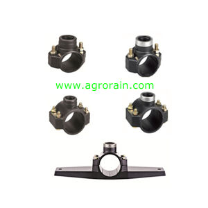 PP Compression Clamp Saddle for Irrigation Water Supply PE Pipe