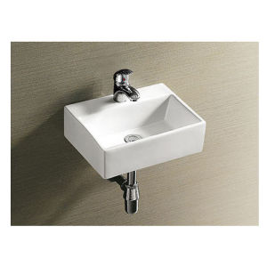 Made in China Wc Ceramic Wall Basin Wall Mounted Basin pictures & photos