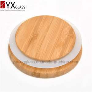 High Quality Borosilicate Glass Jar with Wood Lid Hermetic Pot Glass Sealed Cans Collection Storage Tank Large Moss Bottle 700ml 1100ml pictures & photos