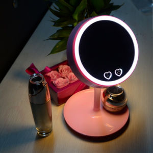 2016 New Fashion Makeup Mirror Stand Mirror Rechargeable LED Light Desktop Table Lamp Mirror pictures & photos
