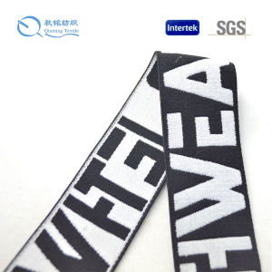 Custom Jacquard Webbing with White and Black pictures & photos