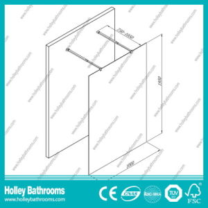 Hot Sellingwalk-in Shower Cabin with Tempered Laminated Glass (SE930C) pictures & photos