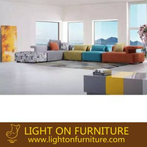 Warm Color Leisure Sofa Fabric Furniture for House Building Project (F1114#) pictures & photos