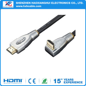 Factory Price 90 Degree Right Angle 1.4V 4k*2k HDMI Cable pictures & photos