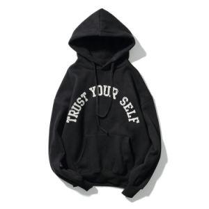 New Fashion Custom Men Printed Black Cotton Hoodie Wholesale pictures & photos