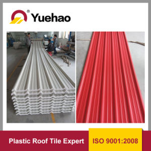 Plastic PVC Roofing Tile/UPVC Roof Sheet/3 Layers Heat Insulation UPVC Roofing Tile 1130mm