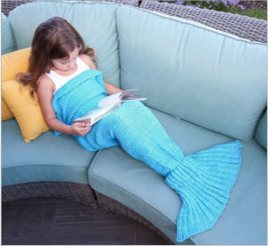 Pretty Beautiful Mermaid Tail Pattern Fleece Blanket pictures & photos