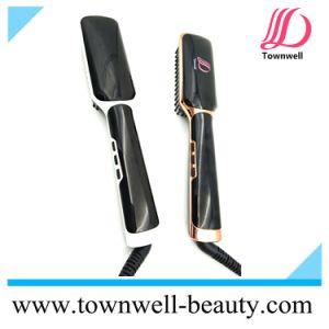 Original Tourmaline Ceramic Coating Hair Straightening Brush pictures & photos