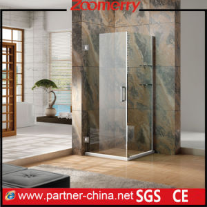 "3/8"" (10mm) Thick Tempered Glass Frameless L-Shape Shower Enclosure (MH1221) pictures & photos"