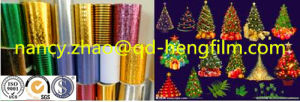 Colorful Metallized PVC Film for Making Christmas Decoration pictures & photos