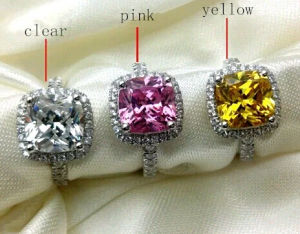 Brillant Square Colorful Fashion Cubic Zirconia Jewelry Ring pictures & photos