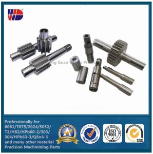High Quality CNC Machined Gear Shaft (WKC-09) pictures & photos
