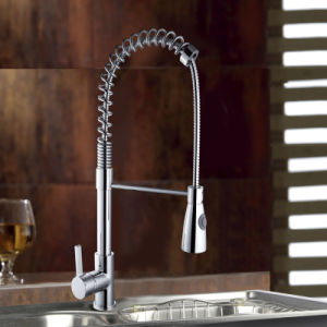 2015 Pull out Single Handle Chrome Brass Kitchen Tap pictures & photos