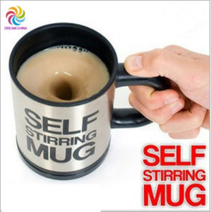 350ml Stainless Steel Self Stirring Coffee Mug with Colorful Box pictures & photos