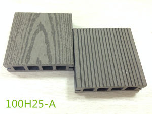 25mm Thick Hollow Board Wood Grain Decking Embossed WPC Anti-UV Board pictures & photos