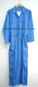 Long Sleeves Navy Polyester Safety Coverall 071 pictures & photos