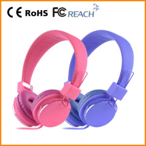 Pink Color Stereo Headphone for Children (RMC-303)