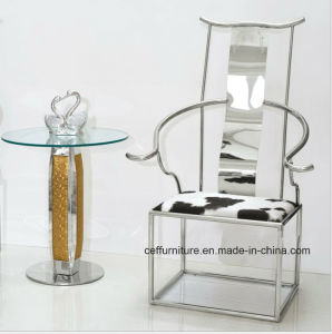 Stainless Steel Chinese Tradiptional Fauteuil Mandarin Official Hat Palace Chair