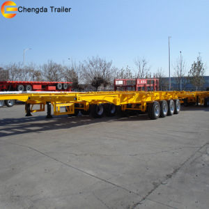 3 Axle 40FT Skeleton Semi Trailer for Container Transport pictures & photos