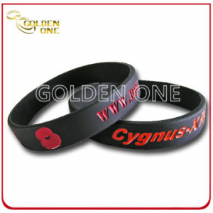 Factory Wholesale Price Personalized Recessed Color Silicone Wristband pictures & photos