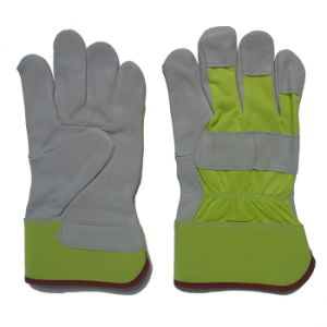 Industrial Safety Goat Grain Leather Driver Work Gloves pictures & photos