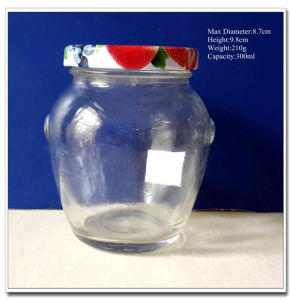 Oval Shaped Glass Jar for Honey and Jam pictures & photos