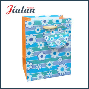Snowflake Printed with Hangtag Wholesales Custom Holiday Design Paper Bag pictures & photos
