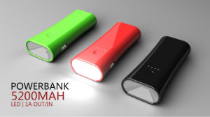 5200mAh Power Bank with LED Flashlight pictures & photos